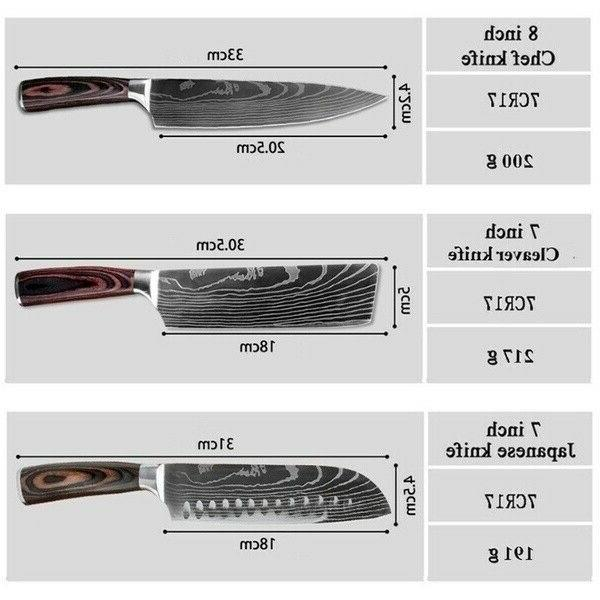 10 Kitchen Cooking Knives Variety