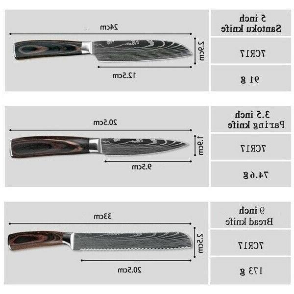 10 Piece Chef Kitchen Knives Set Variety Knife Cutter Accessories