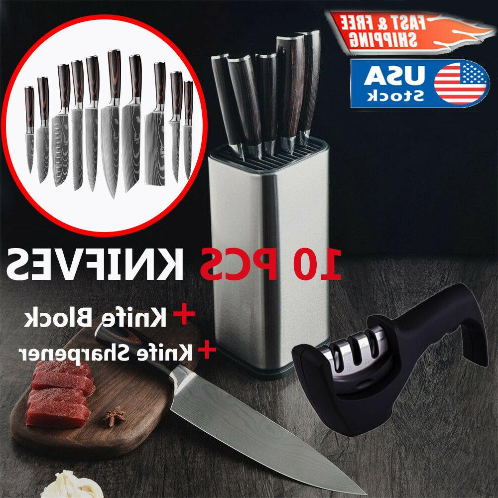 12 piece professional kitchen knives accessories set
