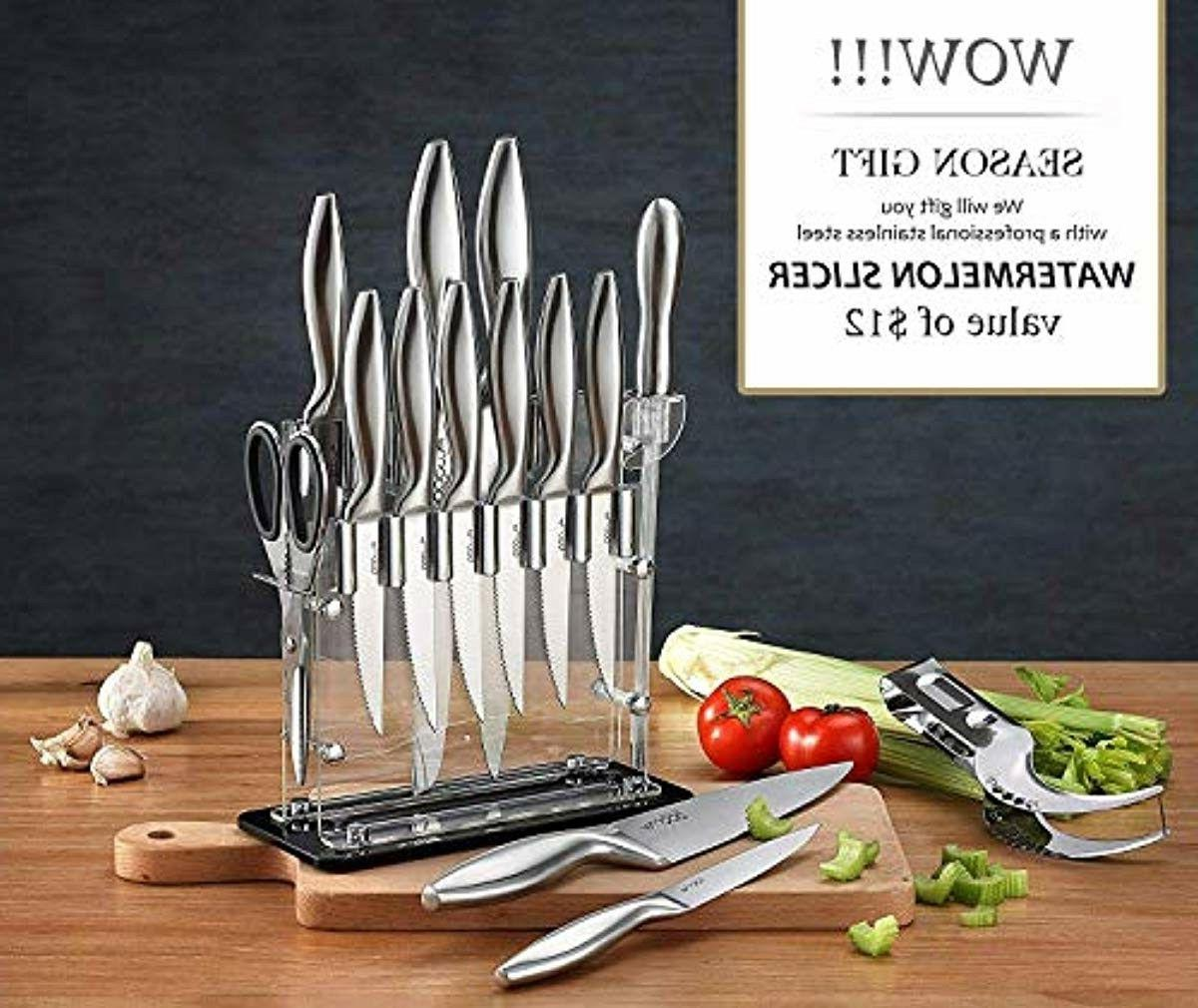 14-Piece Knife Set Clear