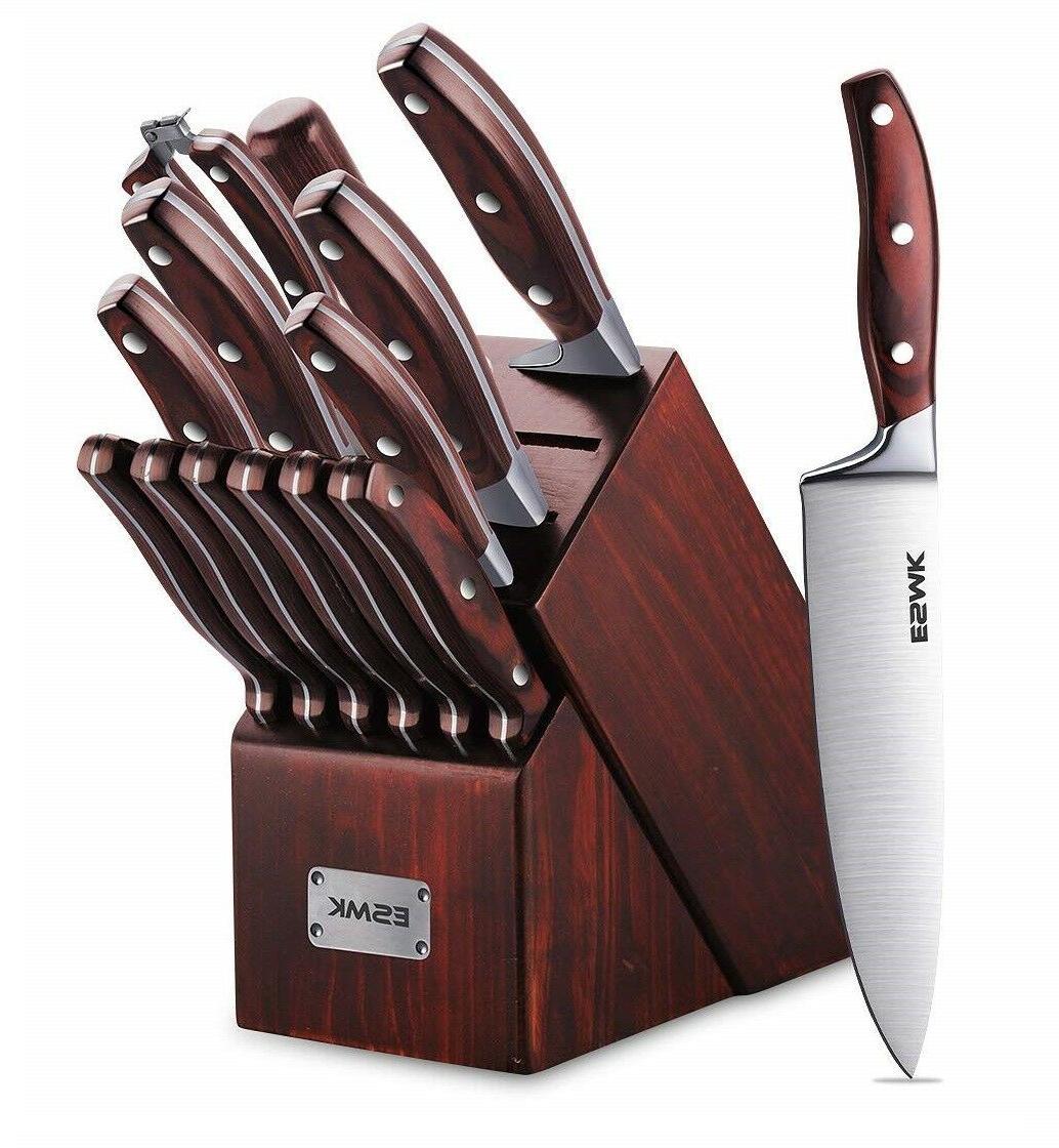 15 pcs german stainless steel kitchen knife