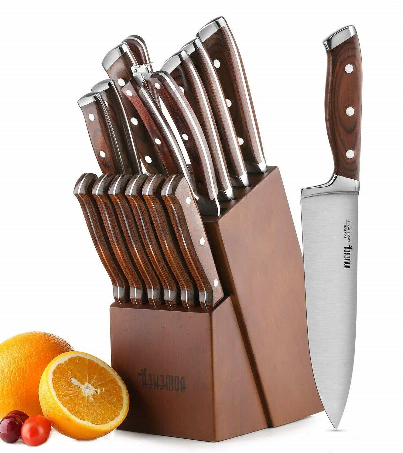 15 piece high carbon steel chef kitchen
