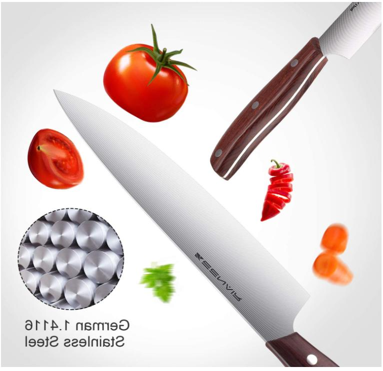 15-Piece Kitchen German Stainless Steel Knife Chef with