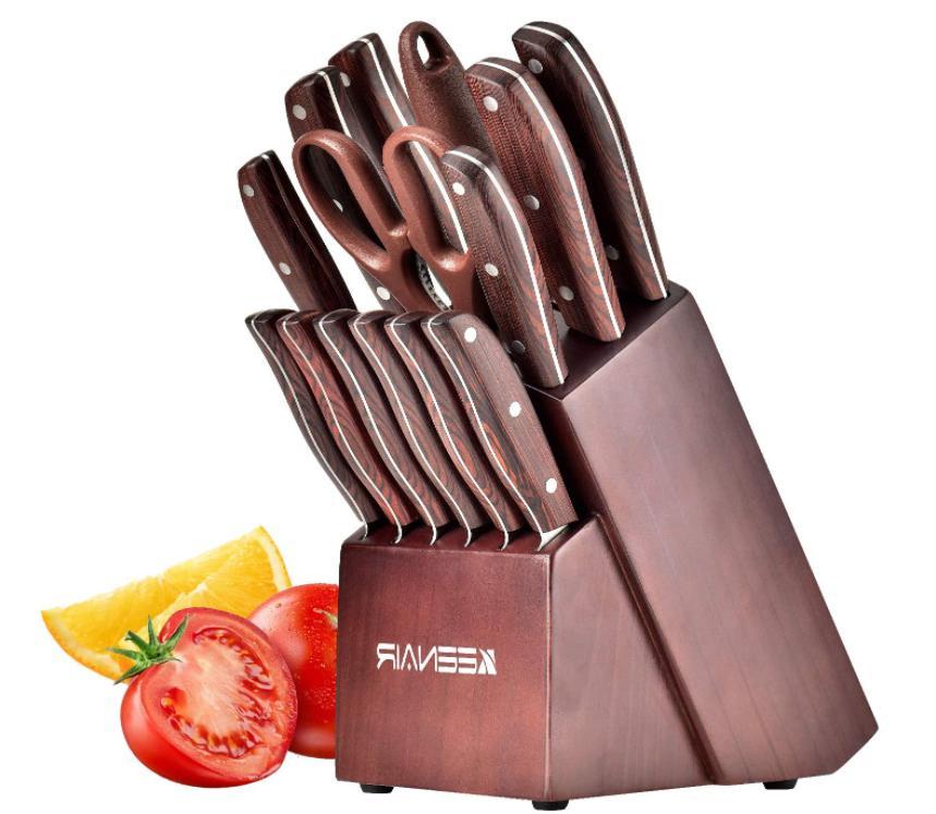 15 piece kitchen knife set german stainless
