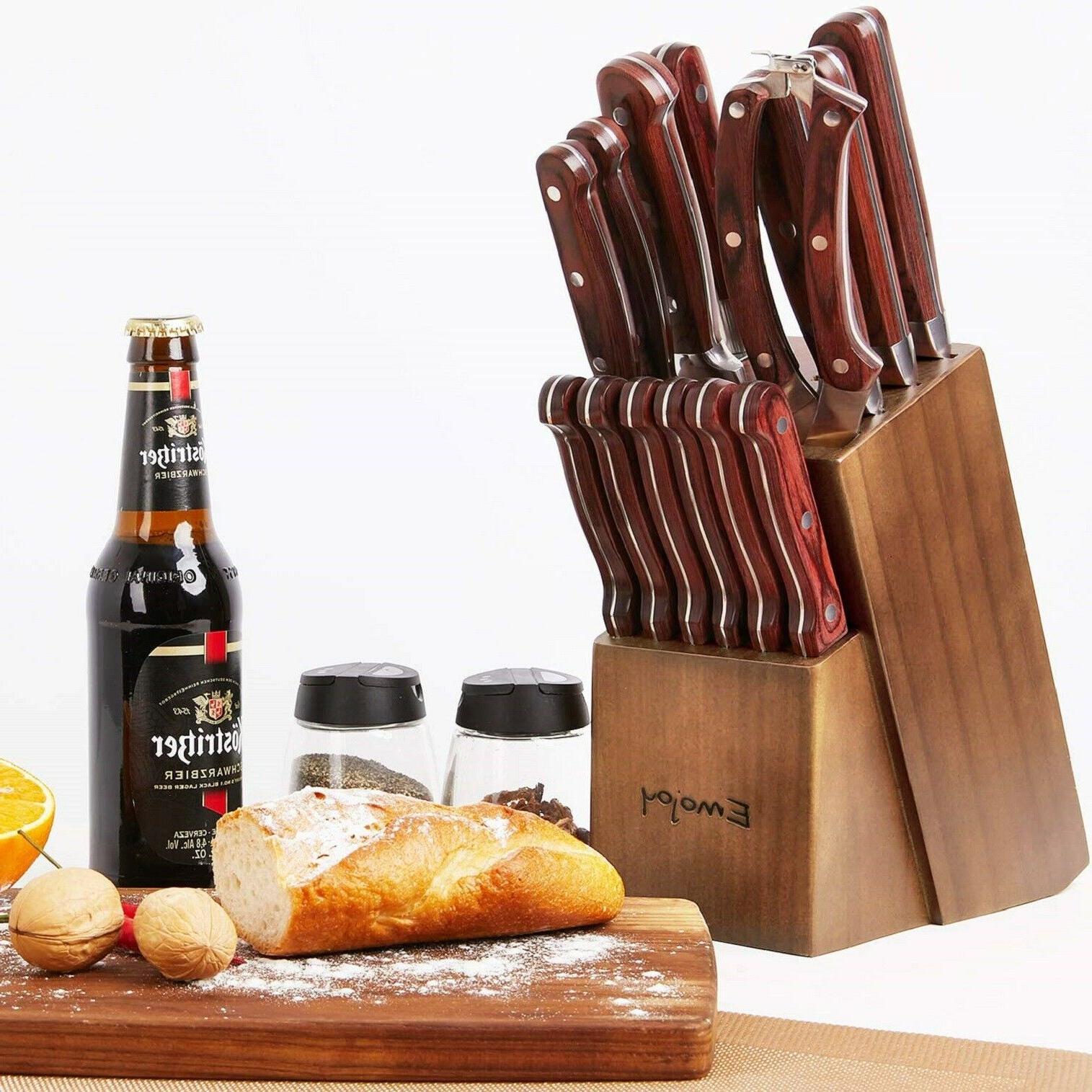 15-Pieces Kitchen Set Block Wooden