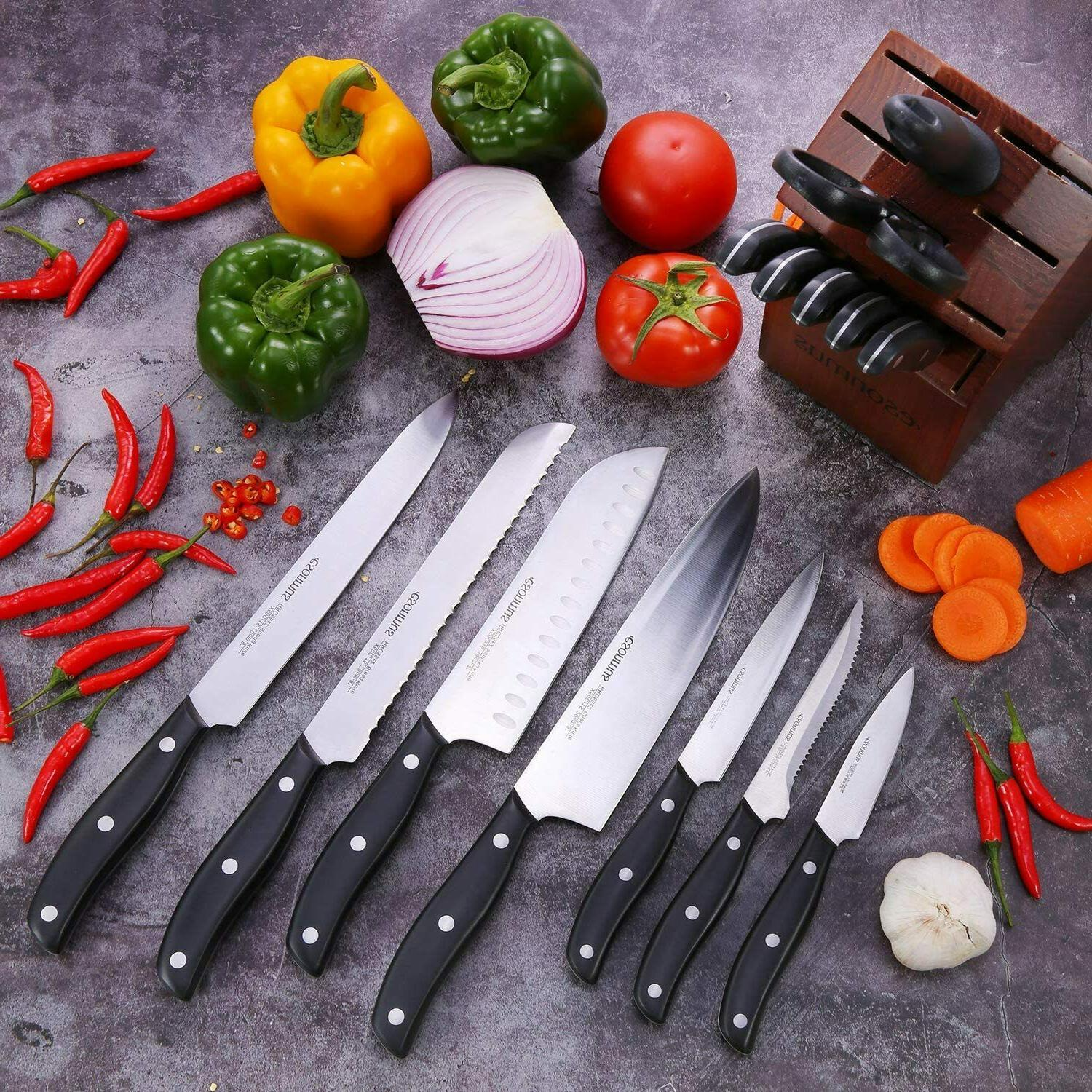 Kitchen Knife with Set German Stainless