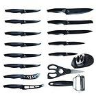 16-piece Kitchen Knife Set with Knife Sharpener Premium Stai