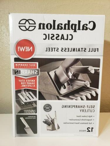 2017943 stainless steel cutlery block