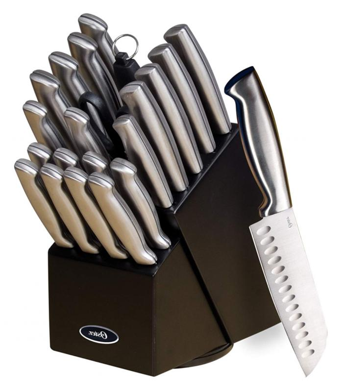 22 piece professional knife block set chef