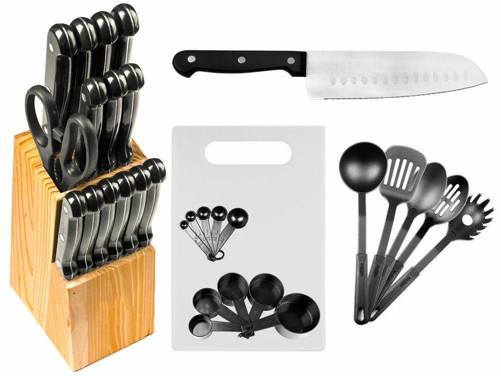 29 Pc Kitchen Knives or Set w/ Kitchen Utensils