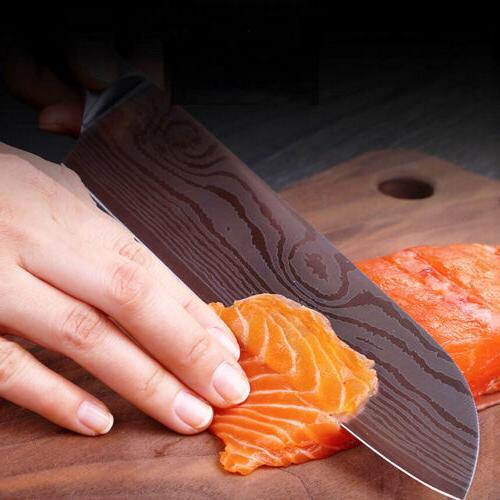 2PCS Pattern Chef Steel Knife
