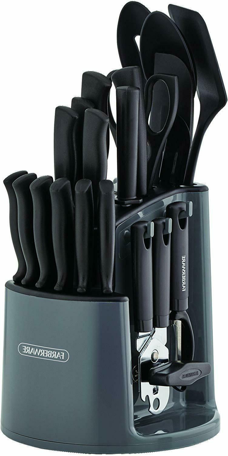 30-Piece Spin-and-Store Knife Kitchen Set Rotating