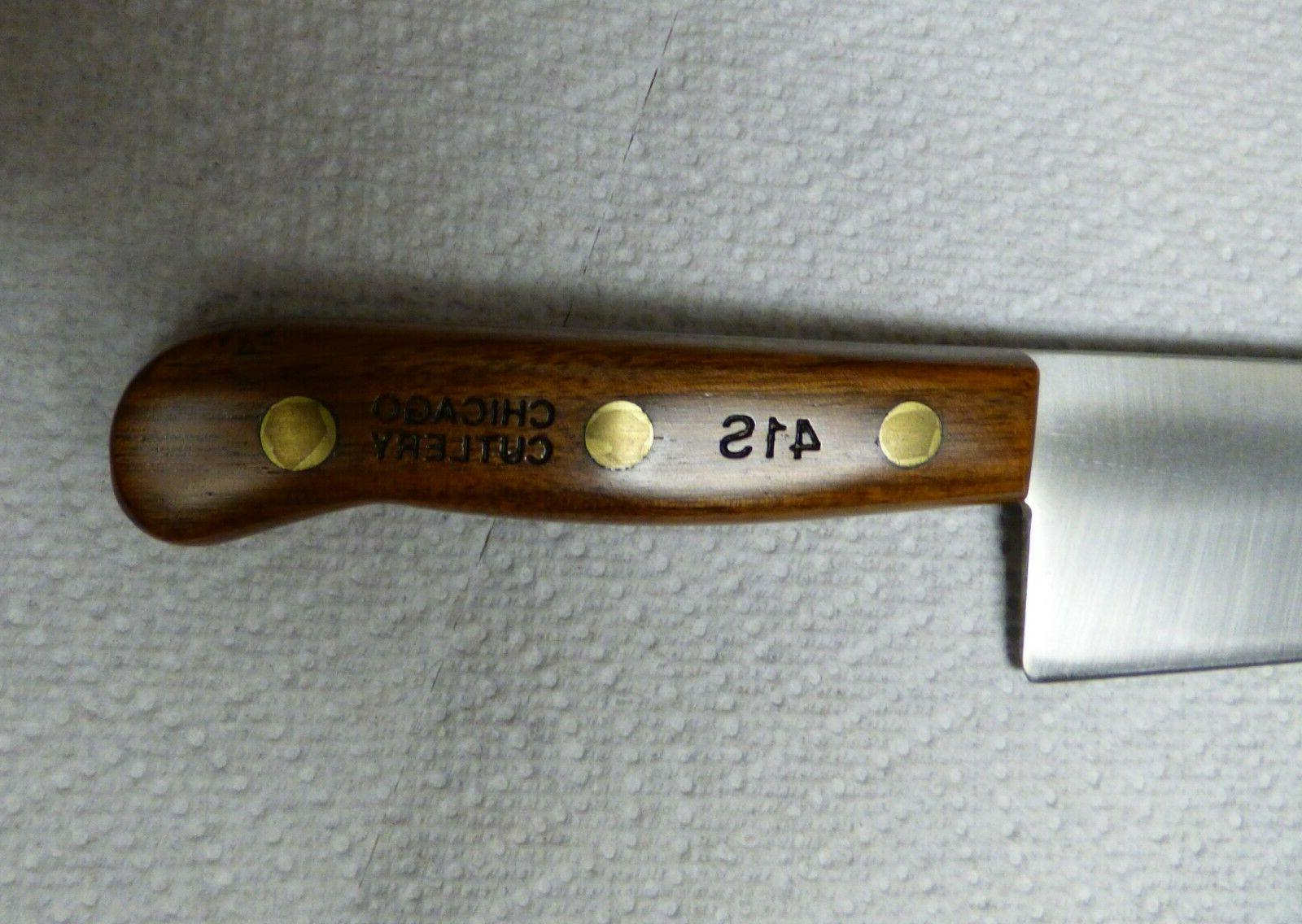 Chicago 41S Chef Knife Finished Walnut