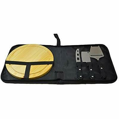 5 Cutting Boards Piece Indoor/Outdoor Travel Cheese And Knif