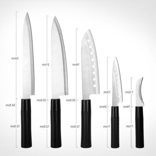 5 Kitchen Knife Set Stainless Steel