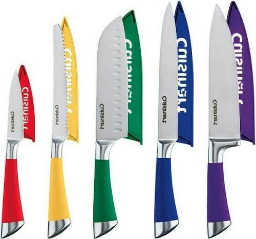 5 piece german stainless steel knife set