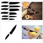 Chef Essential 6 Piece Knife Set With Matching Sheaths, Blac