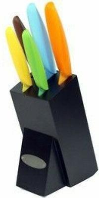 Oceanstar 6-Piece Non-Stick Coating knife set with Block, El