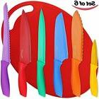 Utopia Kitchen, 6-Piece Non-Stick Knife Set Color-Coded Plus