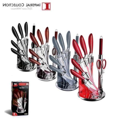 Imperial Collection 8 PC Stainless Steel Kitchen Cutlery Kni