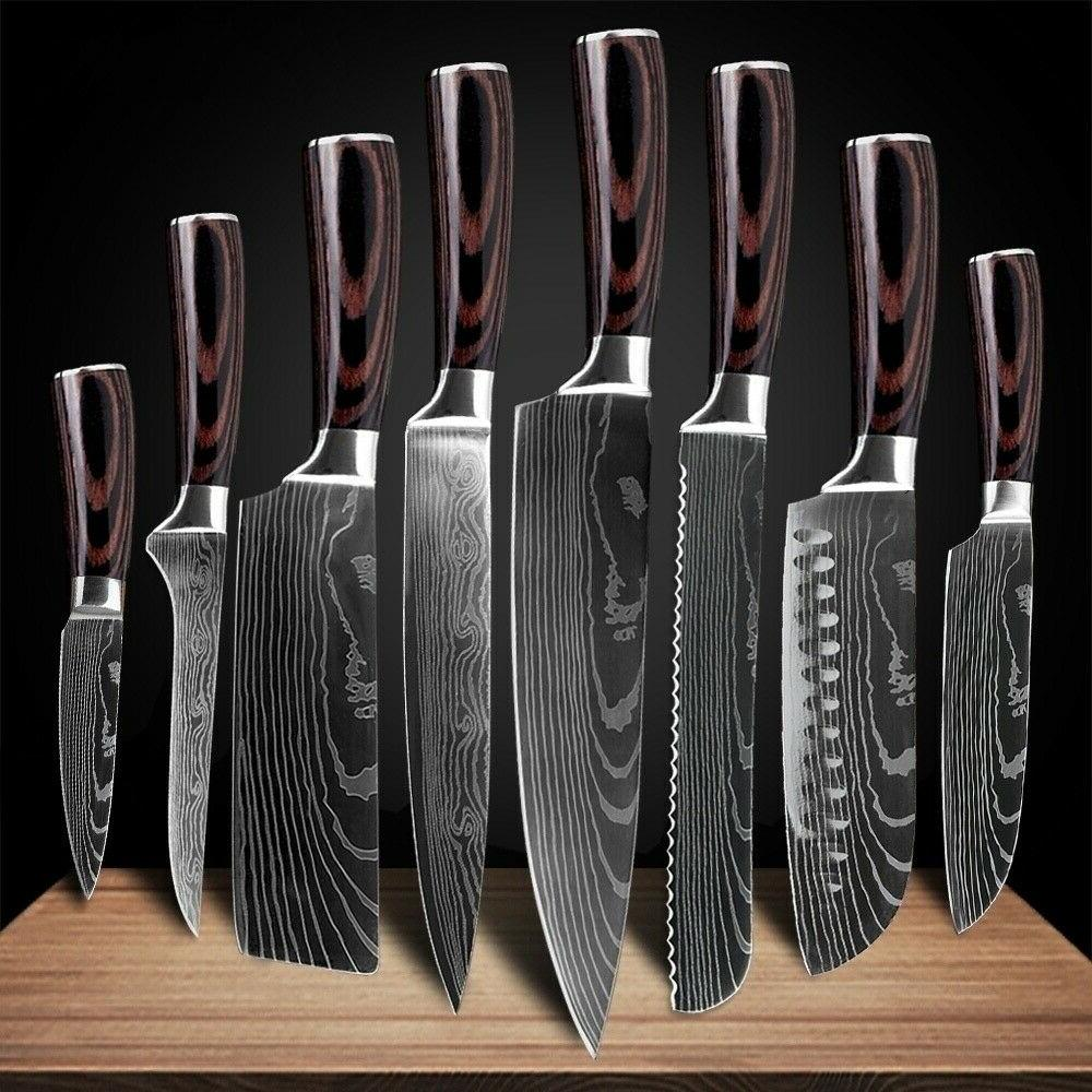 Kitchen Chef's Knife Set Stainless Pattern Sharp Gift