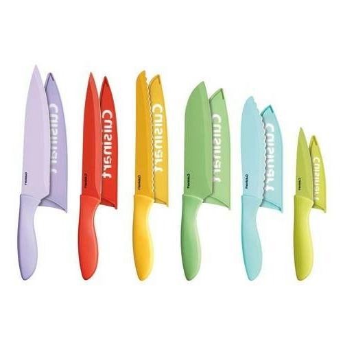 Advantage 12-Pc Ceramic Knife Set Cutlery Storage Sheath Org