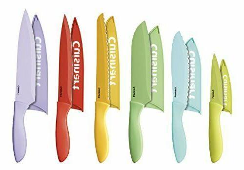 Advantage 12-Pc Ceramic Knife Set Cutlery Storage Sheath Org
