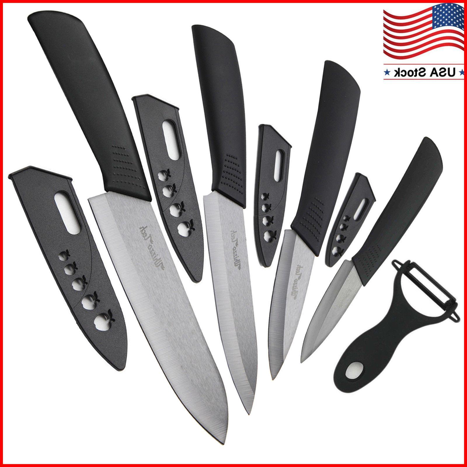 "Blade Sharp Ceramic knife Set Kitchen Knives 3"" 4"" 5"" 6"" + P"