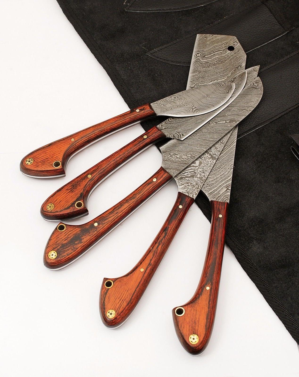 GladiatorsGuild Damascus Kitchen Red Chef Knife Case Bag 33