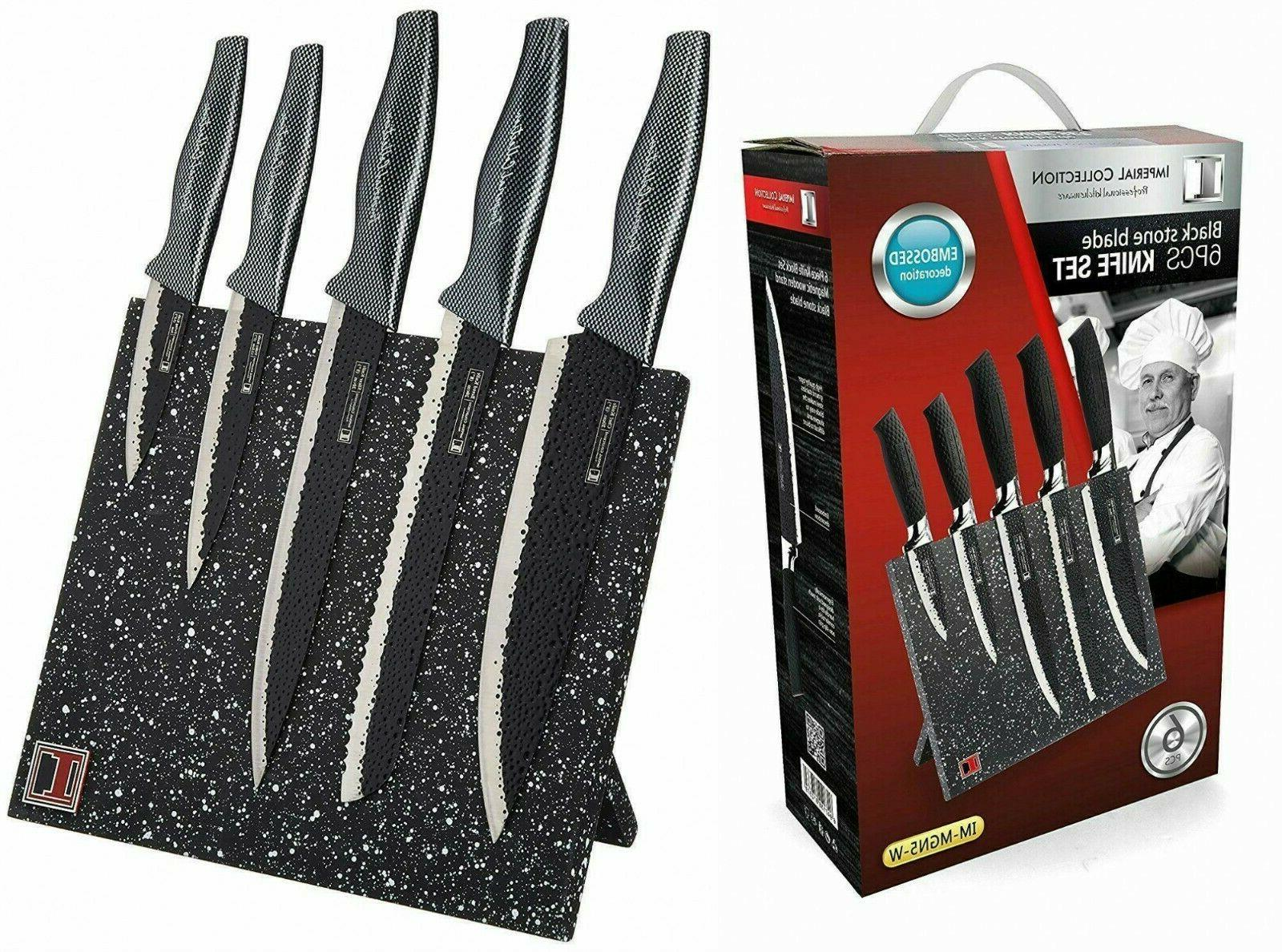 Imperial Collection Non Stick Coating Kitchen Knife Set w Ma