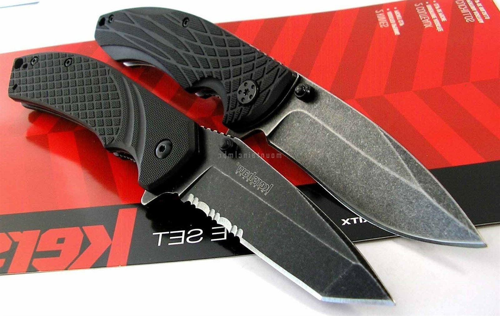 Kershaw 1322KITX SB 2 Knife Set Assisted Opening Utility Fli