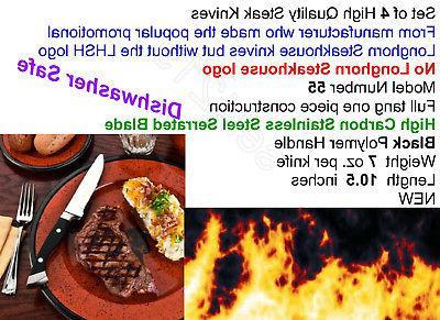 Longhorn Steakhouse 4 Knife BBQ Kitchen Dining New