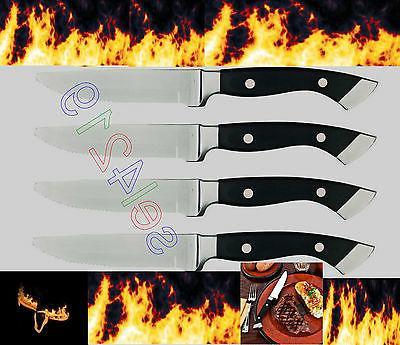 Longhorn Steakhouse Steak Knives 4 Knife Set BBQ Kitchen Din