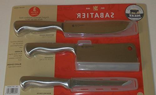 Sabatier Japanese Set Includes Cleaver, and Knife