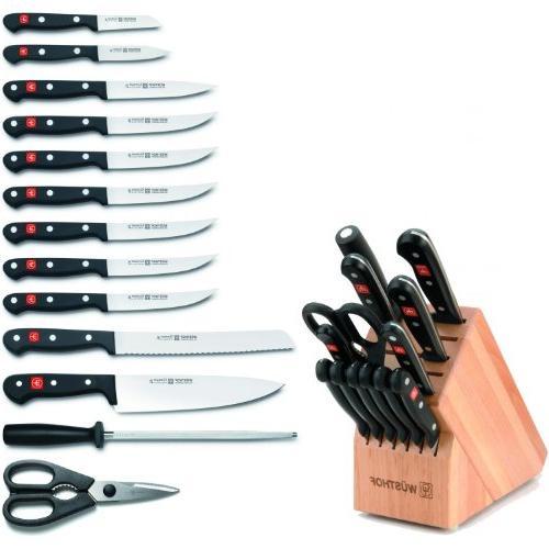 Wusthof Gourmet 14-piece Knife Block Set - Natural