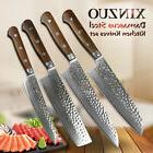 XINZUO High quality 4pcs Damascus Kitchen Knife Sets vegetab