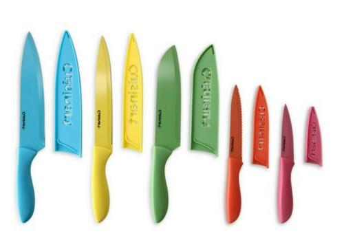advantage 10 piece ceramic coated knife set