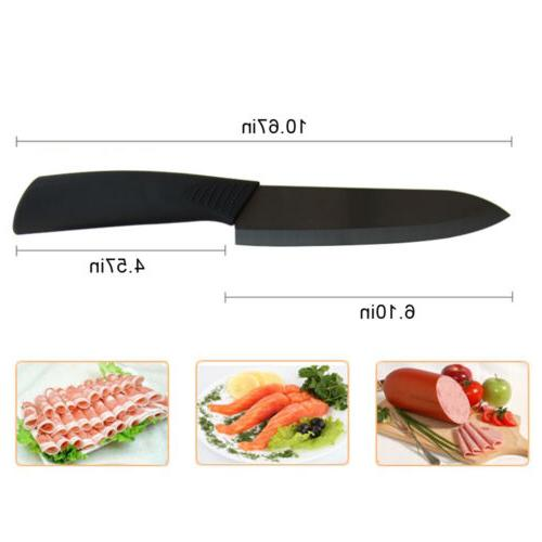 "Black Blade Ceramic Knife Chef Knives 3"" 6"" + Cutlery"