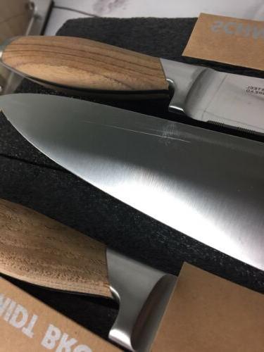 Schmidt Brothers Cutlery Teak 7 Knife Block Set No Stainless