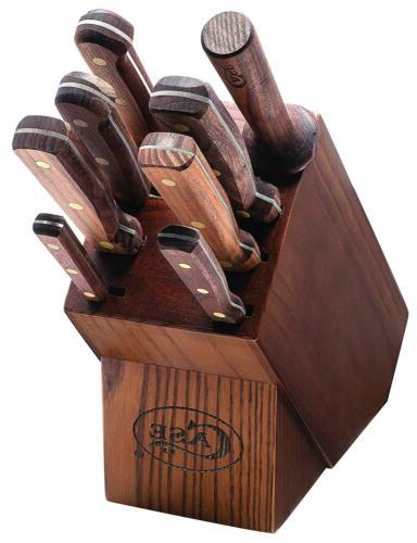 case10249 kitchen knife set walnut
