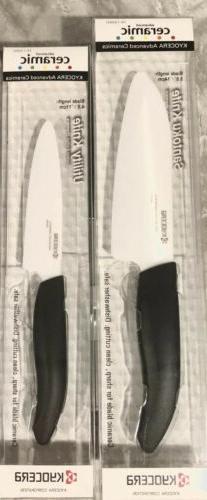 Kyocera 5.5-in. Ceramic Santoku Knife, White