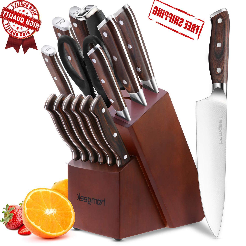 chef knife set 15 piece knife set