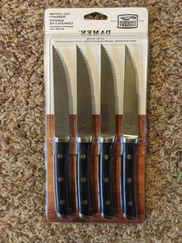 chicago cutlery damen piece steak set