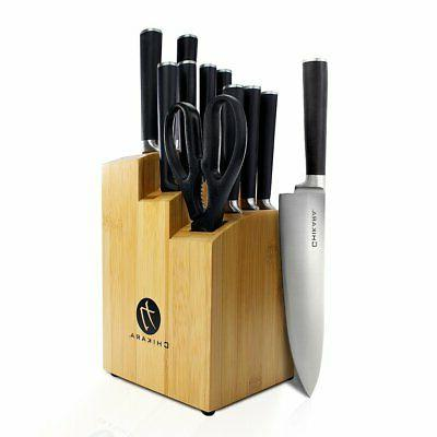 Ginsu® Chikara 12-pc. Black Cutlery Set