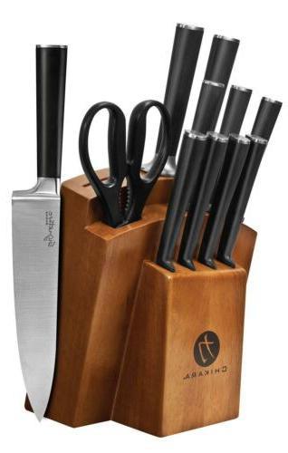 Ginsu - Chikara Signature Series 12-piece Cutlery Set - Blac