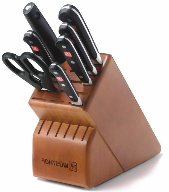 Wusthof Classic 8 Piece Deluxe Block Knife Set with Cherry B