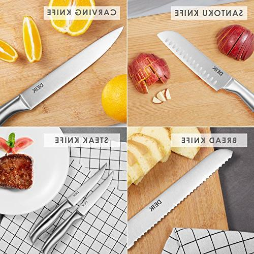 DEIK Classic with Wooden Piece Knife Set