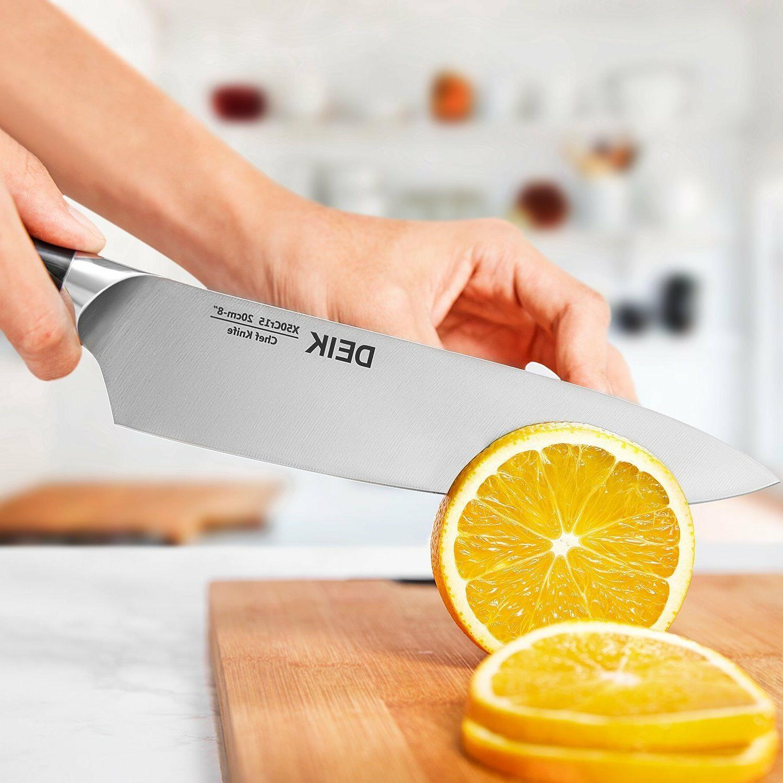 Deik Kitchen Knife Set 5 Pc Premium Steel