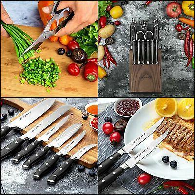 emojoy knife set 18 piece kitchen knife
