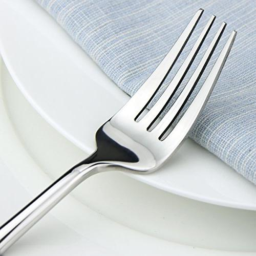 Silverware modern Pieces Stainless Steel Steak Knife and Flatware Set, 4,